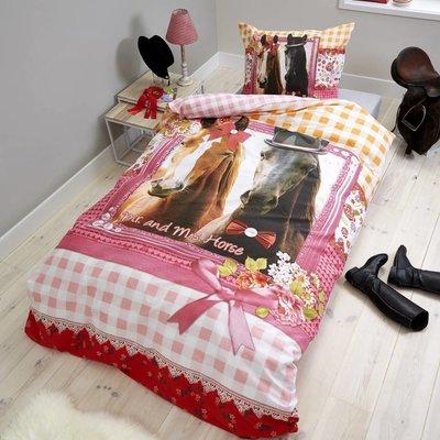 Dreamhouse Bedding Dekbedovertrek Katoen Dreamhouse Bedding Mr and Mrs Horse