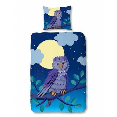 Kids Home Style Dekbedovertrek Katoen Goodmorning Paper Owl