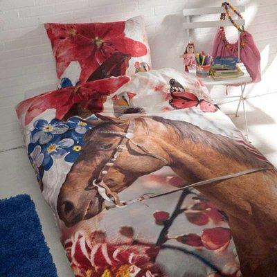 Day Dream Dekbedovertrek Bloemen Paard