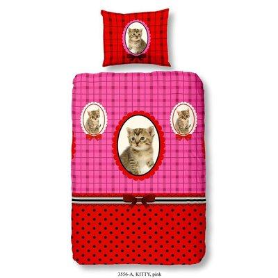Kids Home Style Kinderdekbedovertrek Katoen Kitty Pink