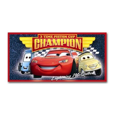Disney Strandlaken Disney Cars 2 Champion 3 Times