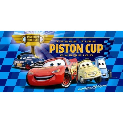 Disney Strandlaken Disney Cars Piston Cup Three Times Champion Blauw