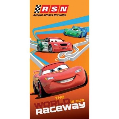 Disney Strandlaken Walt Disney Cars The World is our Raceway