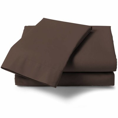 HNL Living Hoeslaken Perkal Katoen HNL Royal Cotton Chocolate Brown