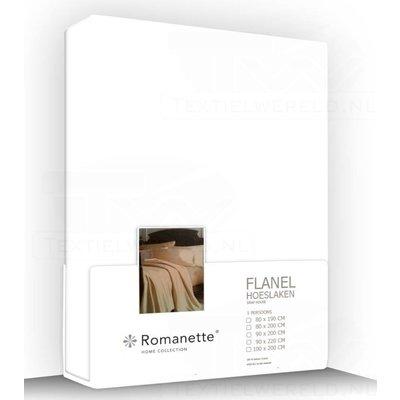 Romanette Flanel Hoeslaken Romanette Wit wit
