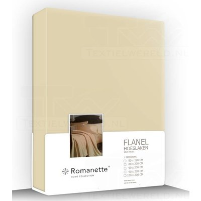 Romanette Flanel Hoeslaken Camel
