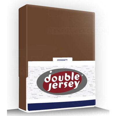 Double Jersey Hoeslaken Jersey Double Jersey Bruin bruin