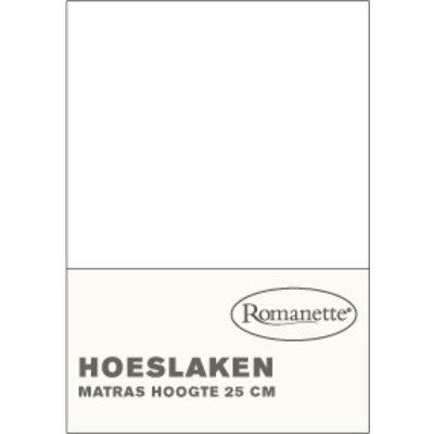 Romanette Katoenen Hoeslakens Wit