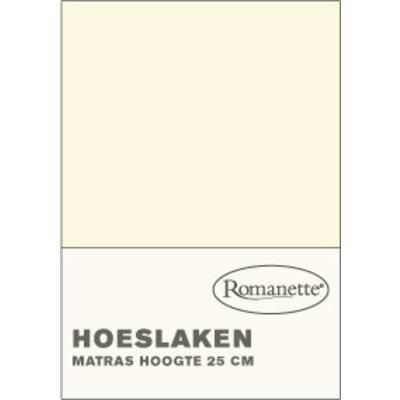 Romanette Katoenen Hoeslakens Ivoor