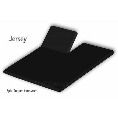 Huismerk Split Topper Hoeslaken Huismerk Jersey Zwart