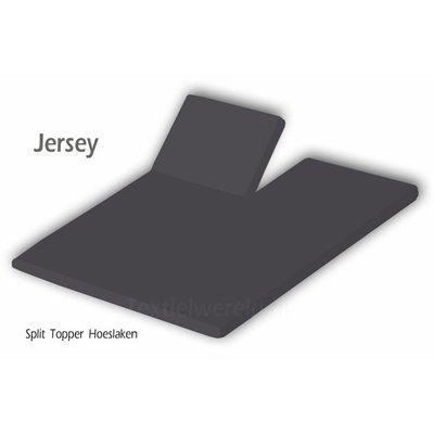 Huismerk Split Topper Hoeslaken Jersey Antraciet
