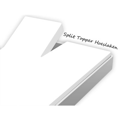 Huismerk Split Topper Hoeslaken Katoen Wit