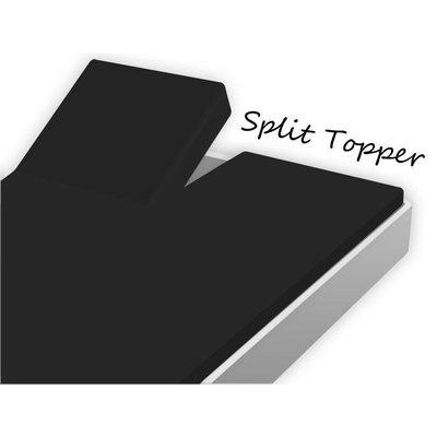 Huismerk Split Topper Hoeslaken Katoen Zwart