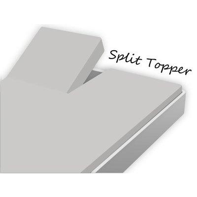 Huismerk Split Topper Hoeslaken Katoen Grijs