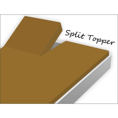 Home Care Split Topper Hoeslaken Katoen Taupe
