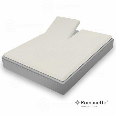 Romanette Romanette Split Topper Hoeslaken Easy Care Zilver