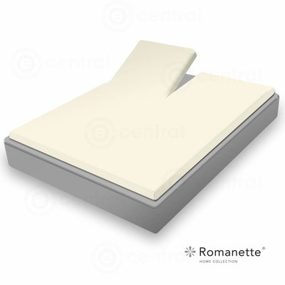 Romanette Romanette Split Topper Hoeslaken Easy Care Ivoor Ivoor