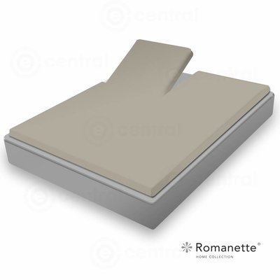 Romanette Split Topper Hoeslaken Romanette Easy Care Taupe Taupe