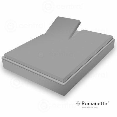 Romanette Split Topper Hoeslaken Romanette Easy Care Kiezel  Antraciet Kiezel