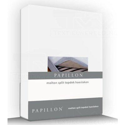 Papillon Molton Split topdek Hoeslaken Wit