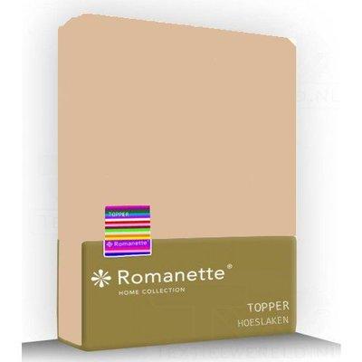 Romanette Topper Hoeslaken Jersey Romanette Camel