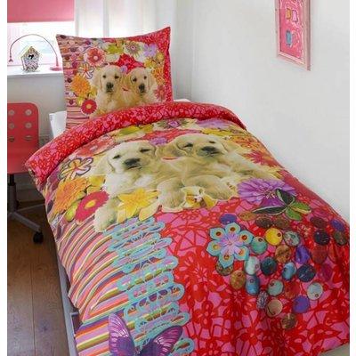Dreamhouse Bedding Kinderdekbedovertrek Katoen Dreamhouse Mila en Bella Multi