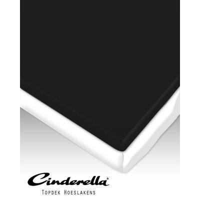 Cinderella Topdek / Topper Hoeslaken Percaline Optiform Zwart