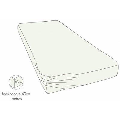 Kayori Hoeslaken 40cm Hoek Offwhite Biologisch Perkal