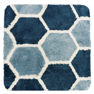 Dutch House WC Mat Beaune Blue Vierkant