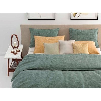 ZO! Home Dekbedovertrek Lino Emerald Green Katoen