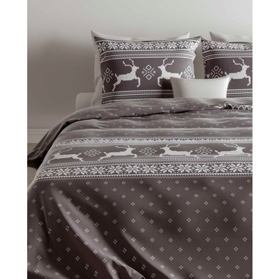 ZO! Home Dekbedovertrek Flanel Olsson Dark Grey