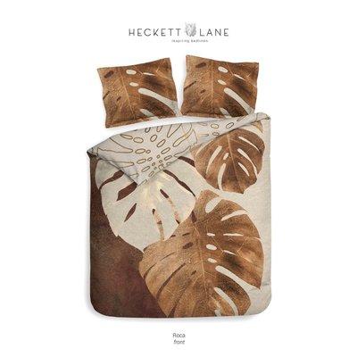 Heckett Lane Dekbedovertrek Roca Rustic Brown Katoen Satijn