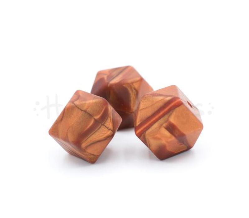 Hexagon -Brons