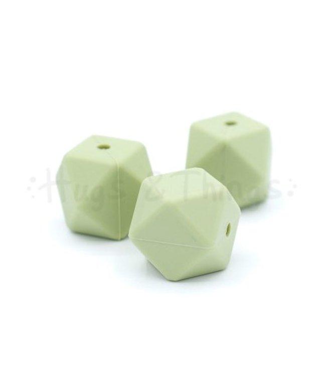 Hexagon - Vergrijsd Groen