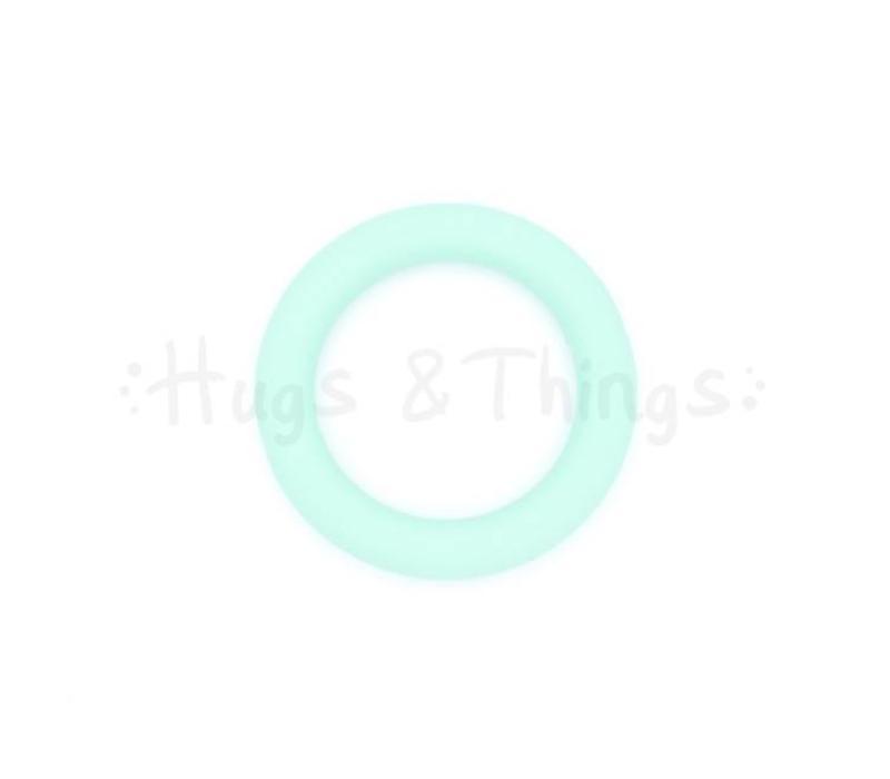 Grote Siliconen Ring - Mintgroen