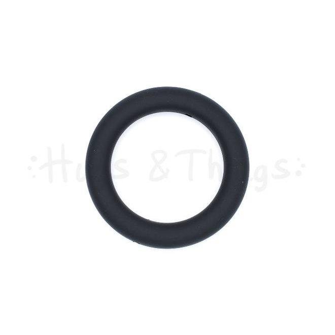 Grote Siliconen Ring - Zwart