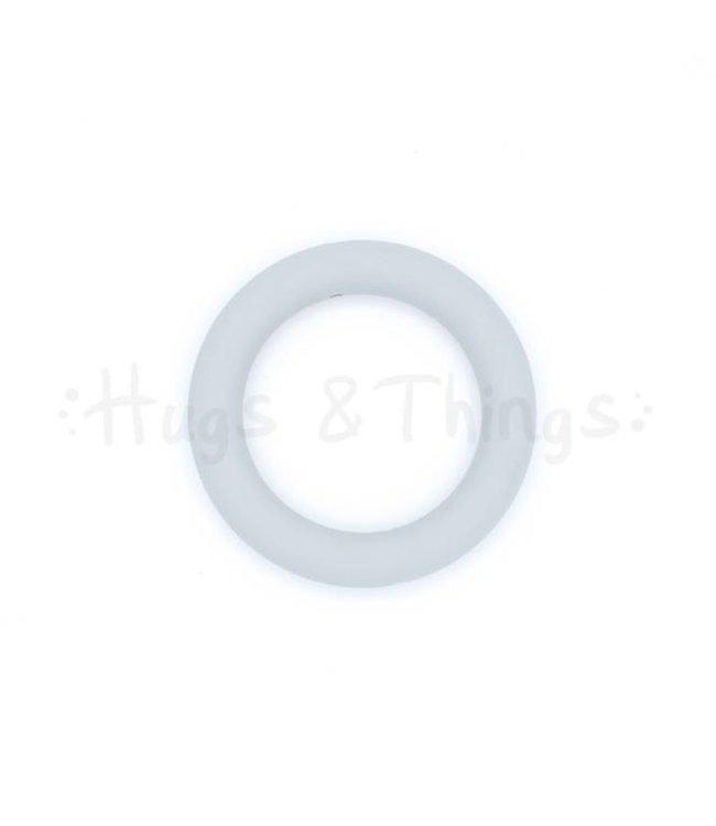 Grote Siliconen Ring - Lichtgrijs
