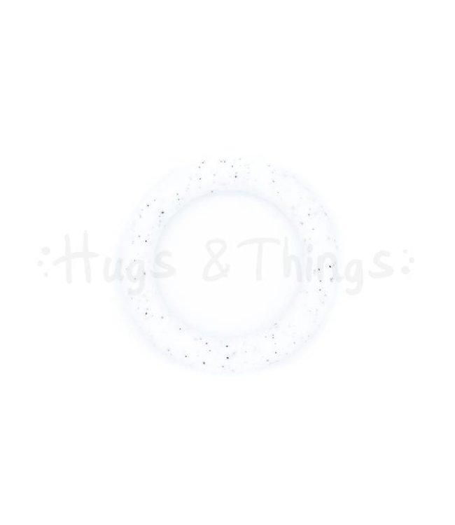 Grote Siliconen Ring - Graniet