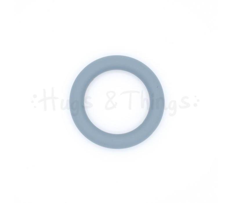 Grote Siliconen Ring - Grijs