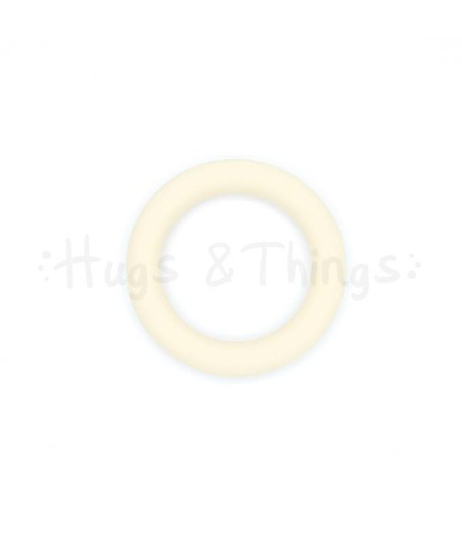Grote Siliconen Ring - Crème