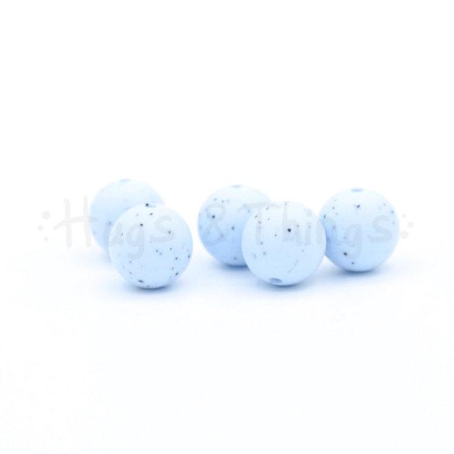 15 mm - Poederblauw Spikkels