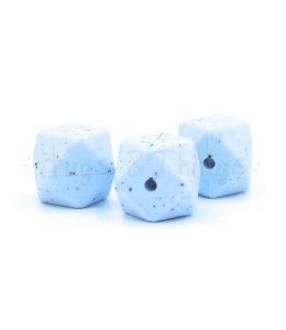H&T Hexagon - Poederblauw Spikkels