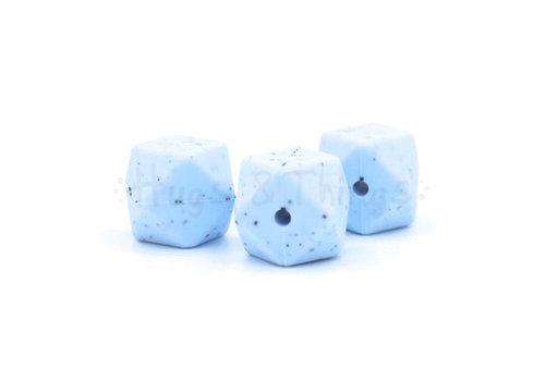 Exclusief bij Hugs & Things Hexagon - Poederblauw Spikkels