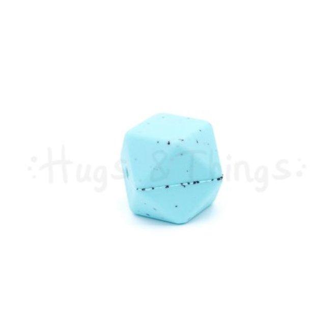 Hexagon - Lichtgrijs Spikkels