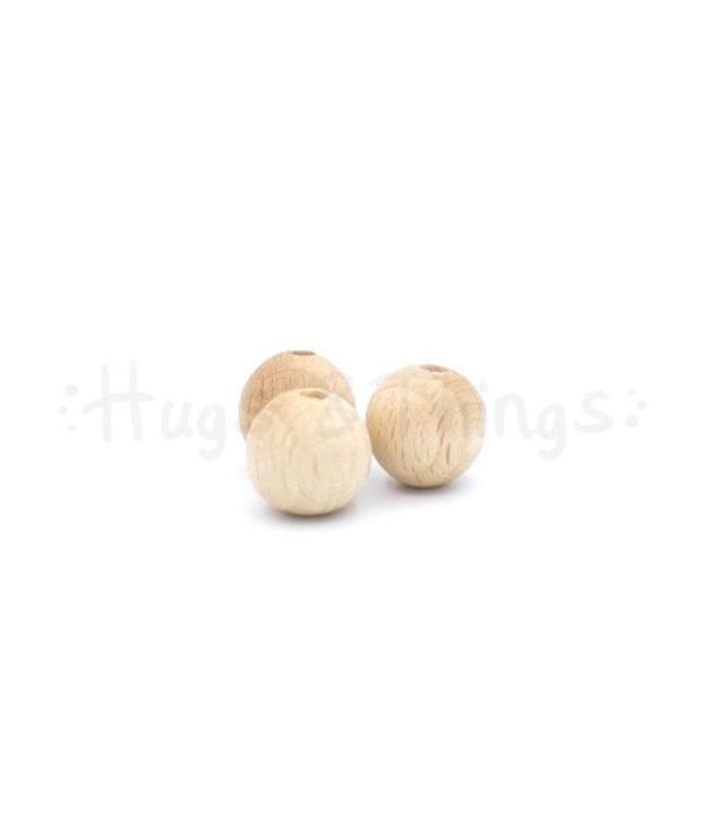 Houten kraal - 12 mm