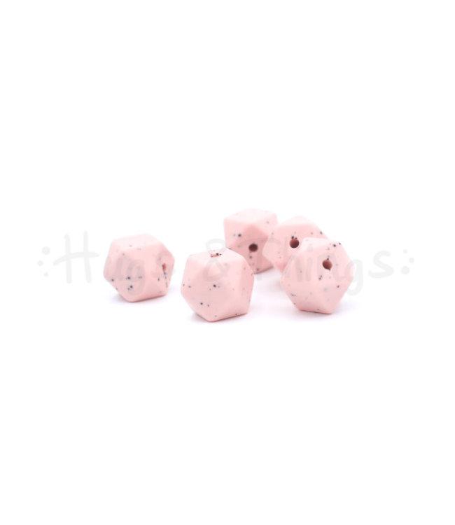H&T Mini-Hexagon - Zachtroze Spikkels