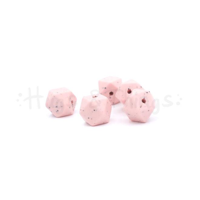 Mini-Hexagon - Zachtroze Spikkels