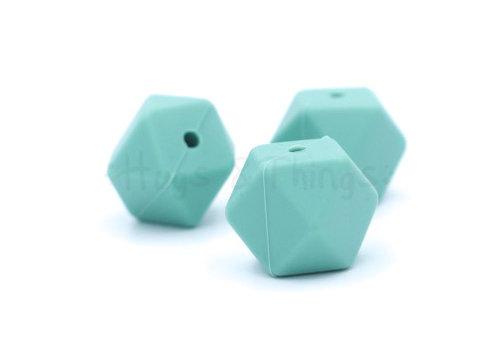 Exclusief bij Hugs & Things Hexagon - Vergrijsd Turquoise