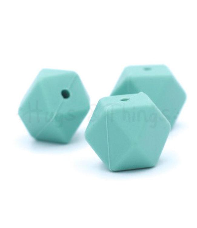 H&T Hexagon - Vergrijsd Turquoise