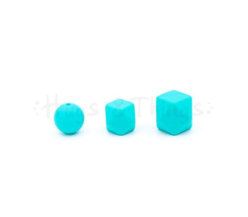 Mini-Hexagon - Mintgroen Spikkels